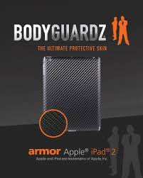 BodyGuardz BZ-ACFI2-0311 Apple iPad 2 Armor Carbon Fiber protection for your Apple iPad 2