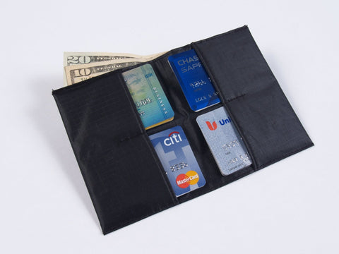 All-Ett Original Black Nylon Billfold Wallet