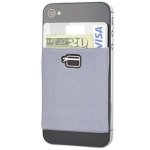 CardNinja (Grey) - Ultra-slim Wallet for iPhone, Android, Blackberry, and Windows Smartphones