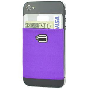 CardNinja (Purple) - Ultra-slim Wallet for iPhone, Android, Blackberry, and Windows Smartphones