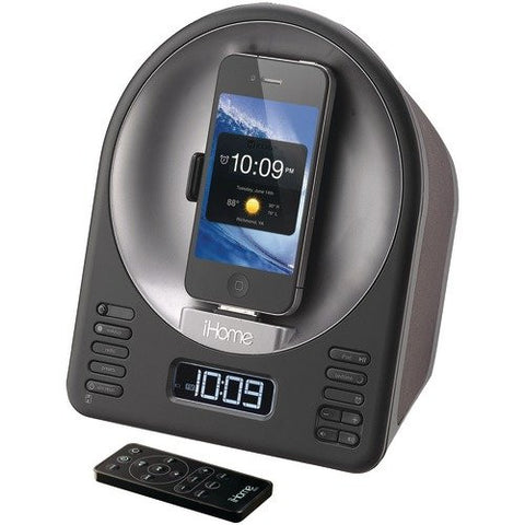iHome iA63 App-Enhanced 30-Pin iPod/iPhone Alarm Clock Speaker Dock