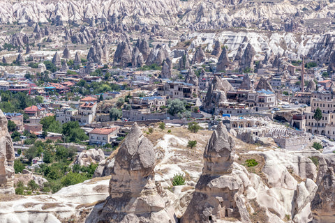 Mountain range of Cappadocia in Turkey