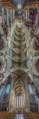 Church of Our Blessed Lady of the Sablon, Brussels, Belgium is a Vertical Church.