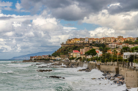 The beaches on the coastline of Calabria in southern Italy.