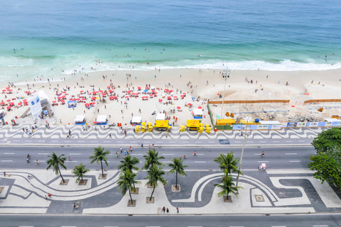 Copa Cabana Beach Rio de Janeiro Brazil one of the worlds most famous beaches.