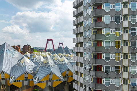 Cube Houses, Rotterdam, the Netherlands is an extremely unique style of architecture used in no other city around.
