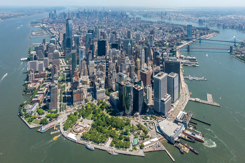 Downtown New York City by Helicopter