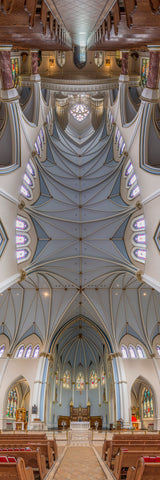 Holy Rosary Cathedral, Vancouver, Canada is a Vertical Church.