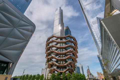 Hudson Yards, NYC, the Vessel and Skyscrapers