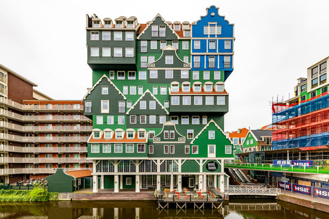 Inntel Hotel, Amsterdam is one of the most unique buildings in all of the Netherlands if not Europe.