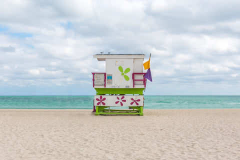 Lincoln Road lifeguard chair is located on South Beach in Miami in Florida.