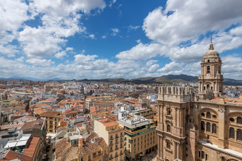 View over the city of Malaga in Spain