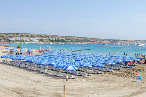 Malta Blue Umbrellas