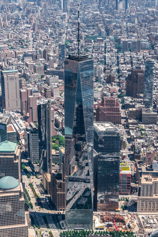 One World Trade Center by Helicopter