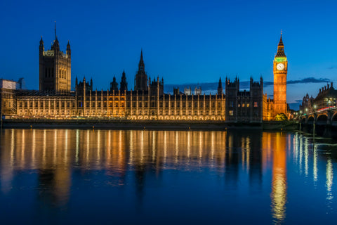 Parliament at Night, London, England UK