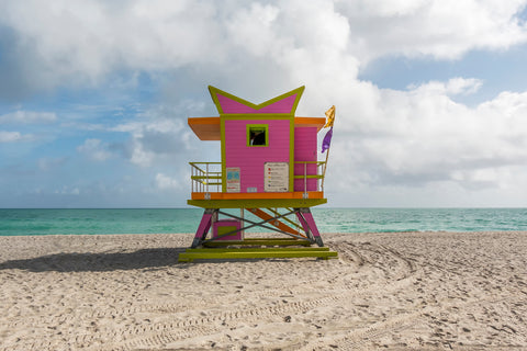 Pink and Green - Miami Lifeguard Chair