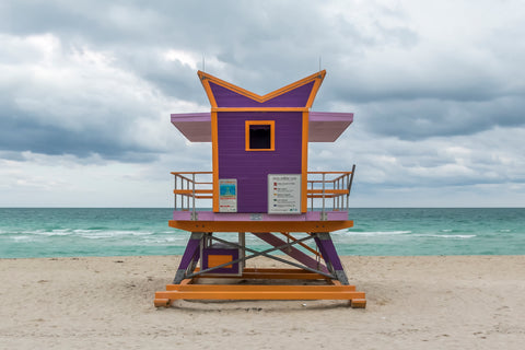 Purple and Orange - Miami Lifeguard Chair