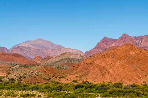 Red mountains of Salta Argentina