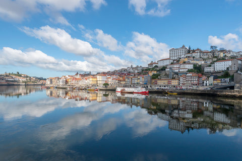 Reflecting clouds in Porto, Portugal