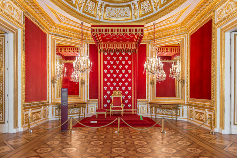 The Royal Palace in Warsaw, Poland has some of the most ornate royal rooms in Europe.