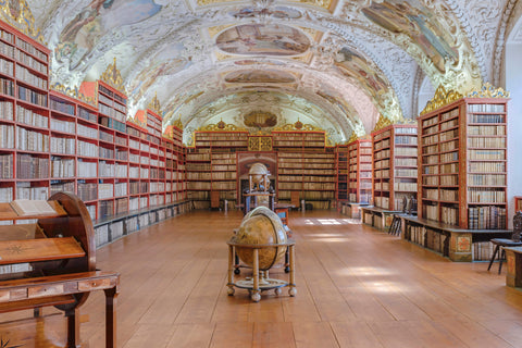 The Strahov Library in Prague, Czech Republic has been on every top 10 most beautiful libraries in the world year after year.