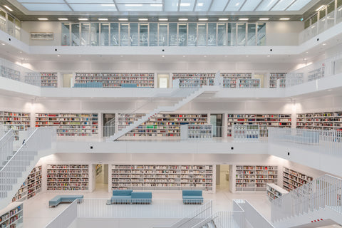 The ultra modern white Stuttgart Library is on almost all top beautiful libraries in the world.
