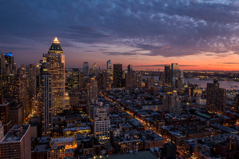 Sunset over the West Side of Manhattan, New York