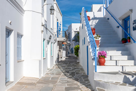The streets of the Island of Paros, Greece