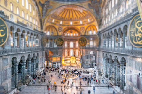 Tilt Shift Hagia Sophia