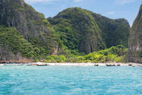 Tilt Shift Ko Phi Phi is off the coast of Phuket, Thailand.