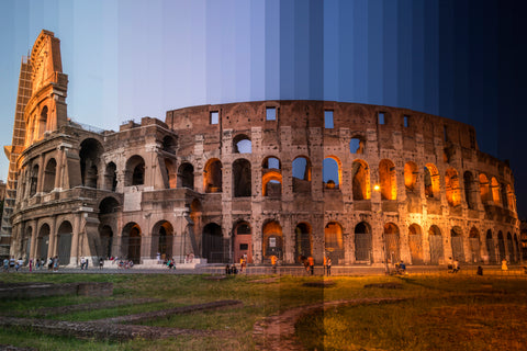Time Slice Coliseum in Rome, Italy is one of the worlds oldest and most beloved monuments to the ancient world.