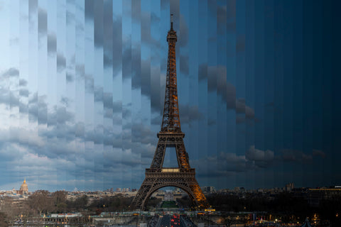 Time Slice Eiffel Tower
