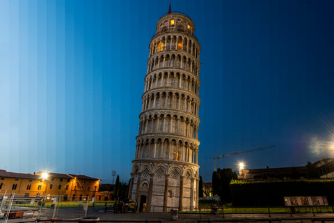 Time Slice Leaning Tower of Pisa, Italy