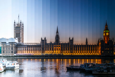 Time Slice London, the Parliament building in the UK.