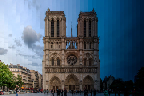 Time Slice Notre Dame Cathedral, Paris