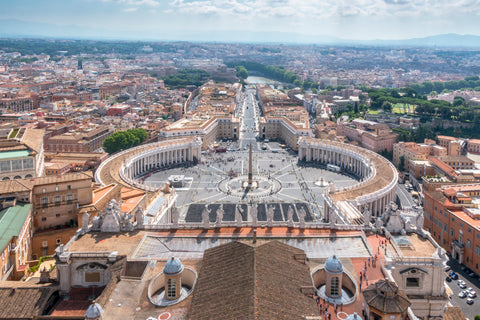 Top of the Vatican Roof, Rome, Italy