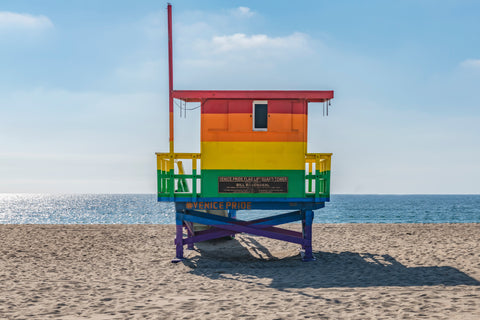 Venice Beach, Rainbow Chair Lifeguard Tower