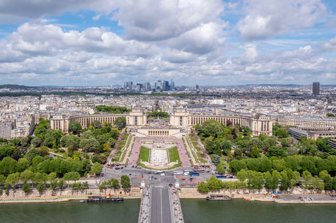 View from the Eiffel Tower of the Trocadero Paris France