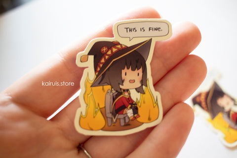 This is Fine Megumin Sticker [Konosuba]