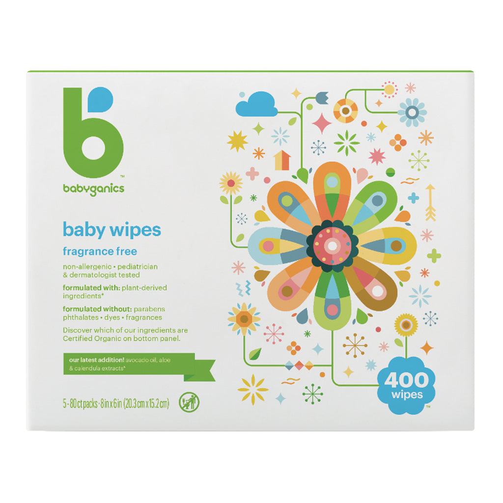 baby wipes, fragrance free, 400 sheets