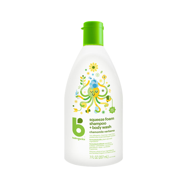 shampoo + body wash, 207ml, chamomile verbena