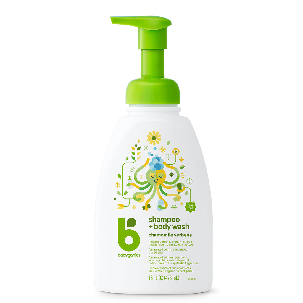 shampoo + body wash, 473ml, chamomile verbena