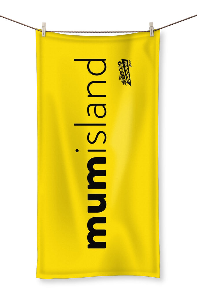 Yellow Mum Island Beach Towel