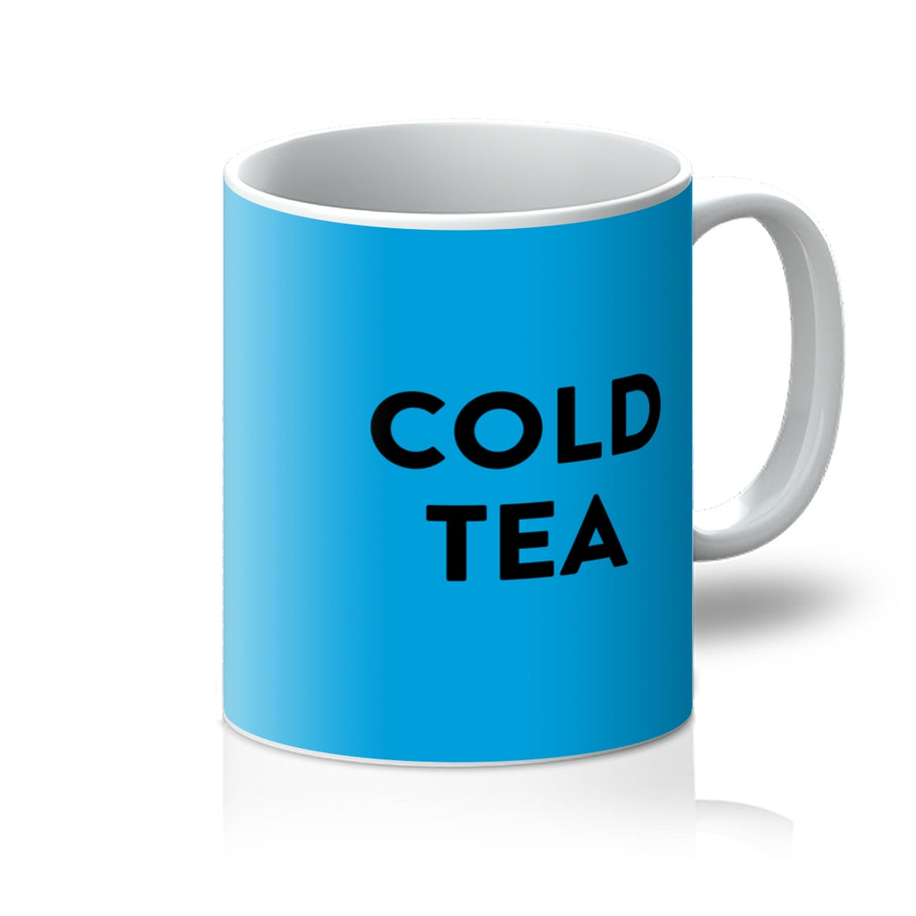 Blue Cold Tea Mug
