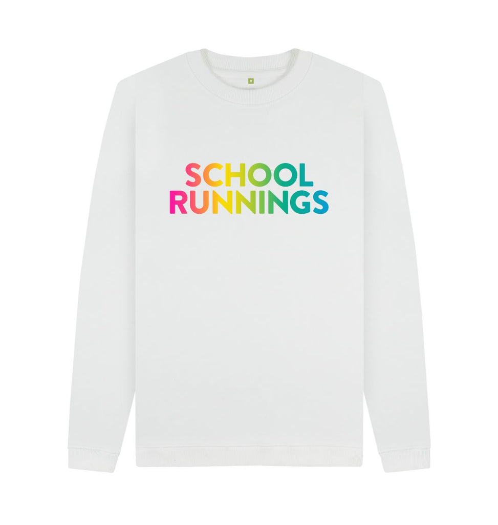 White SCHOOL RUNNINGS Sweatshirt