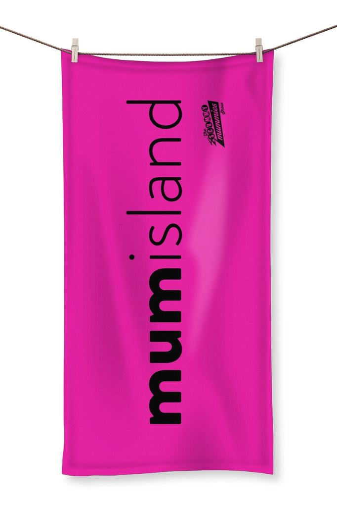 Hot Pink Mum Island Beach Towel