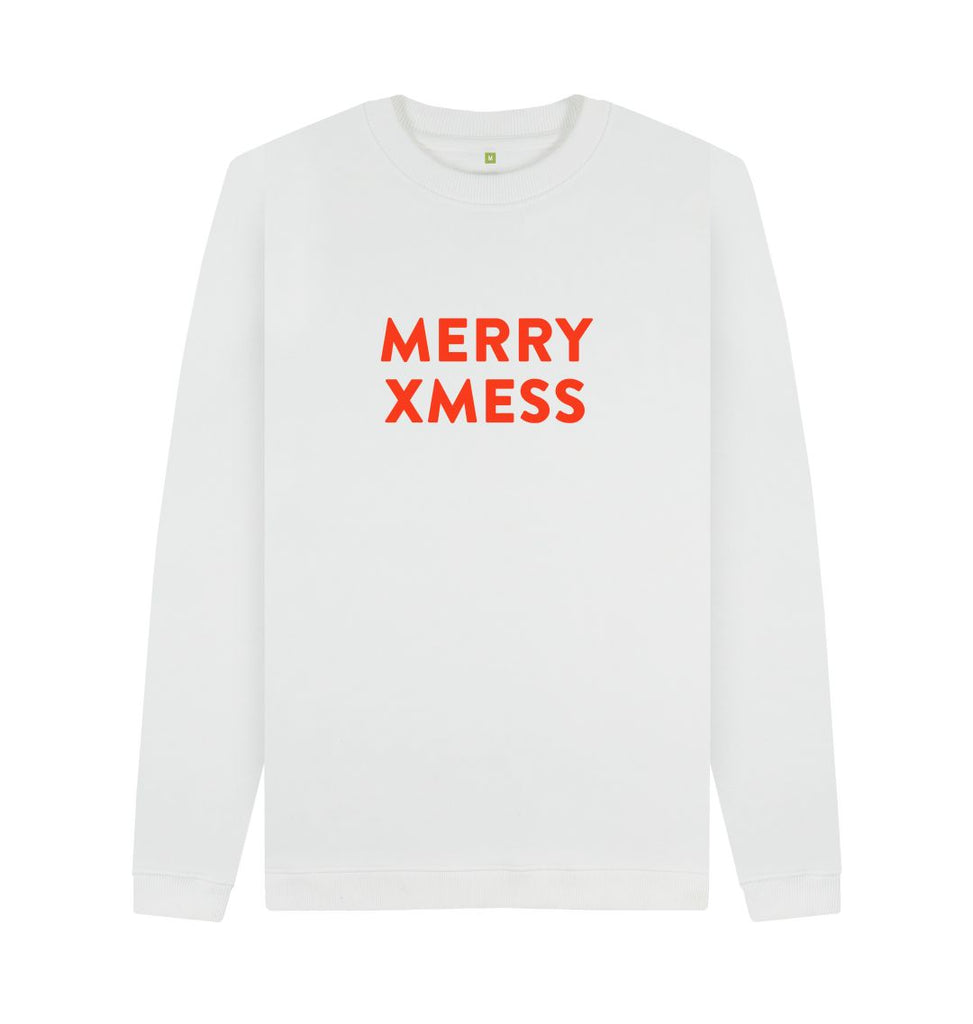 White MERRY XMESS Red Sweatshirt