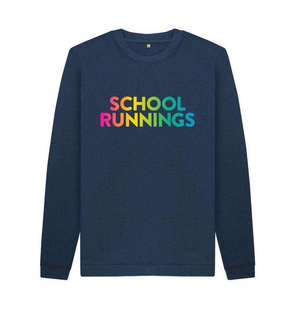 Navy Blue SCHOOL RUNNINGS Sweatshirt