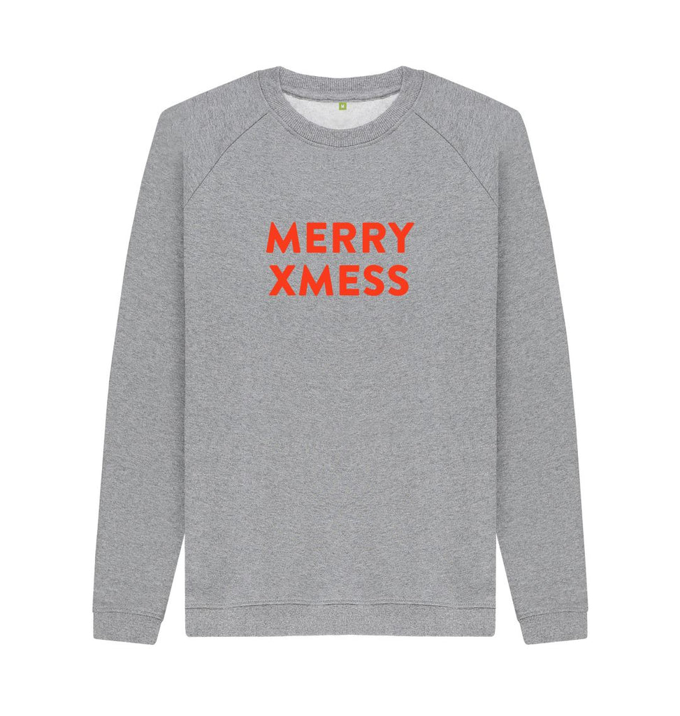 Light Heather MERRY XMESS Red Sweatshirt