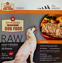 Load image into Gallery viewer, JD Farms Raw Turkey Dog Food
